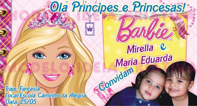 Convite Aniversário Infantil Barbie School