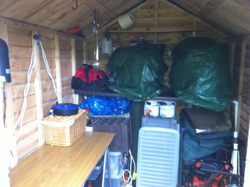 how to safely bring down a timber shed