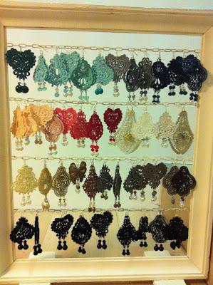 cornice porta orecchini con intera collezione Cris