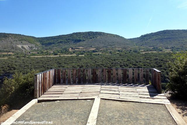 Mirador sobre el Cañón del Ebro