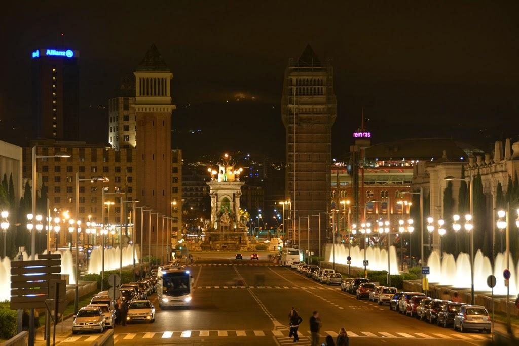 Barcelona by night Venetion Towers