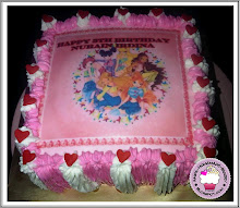 Winx club edible image with buttercream
