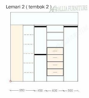 desain lemari 2 model sudut tembok