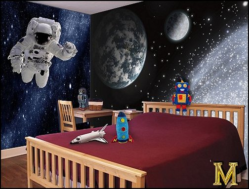 Boy Bedroom Space Theme