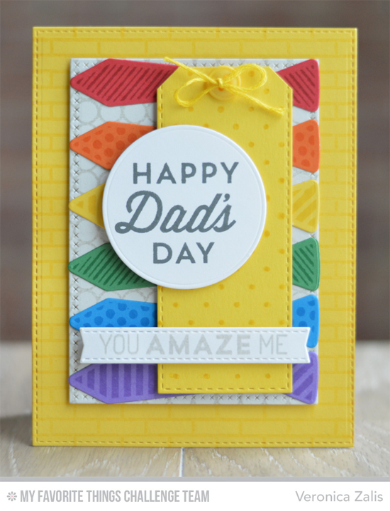 Dad's Day Card by Veronica Zalis featuring the Lisa Johnson Designs Terrific Ties Die-namics and For the Boys stamp set