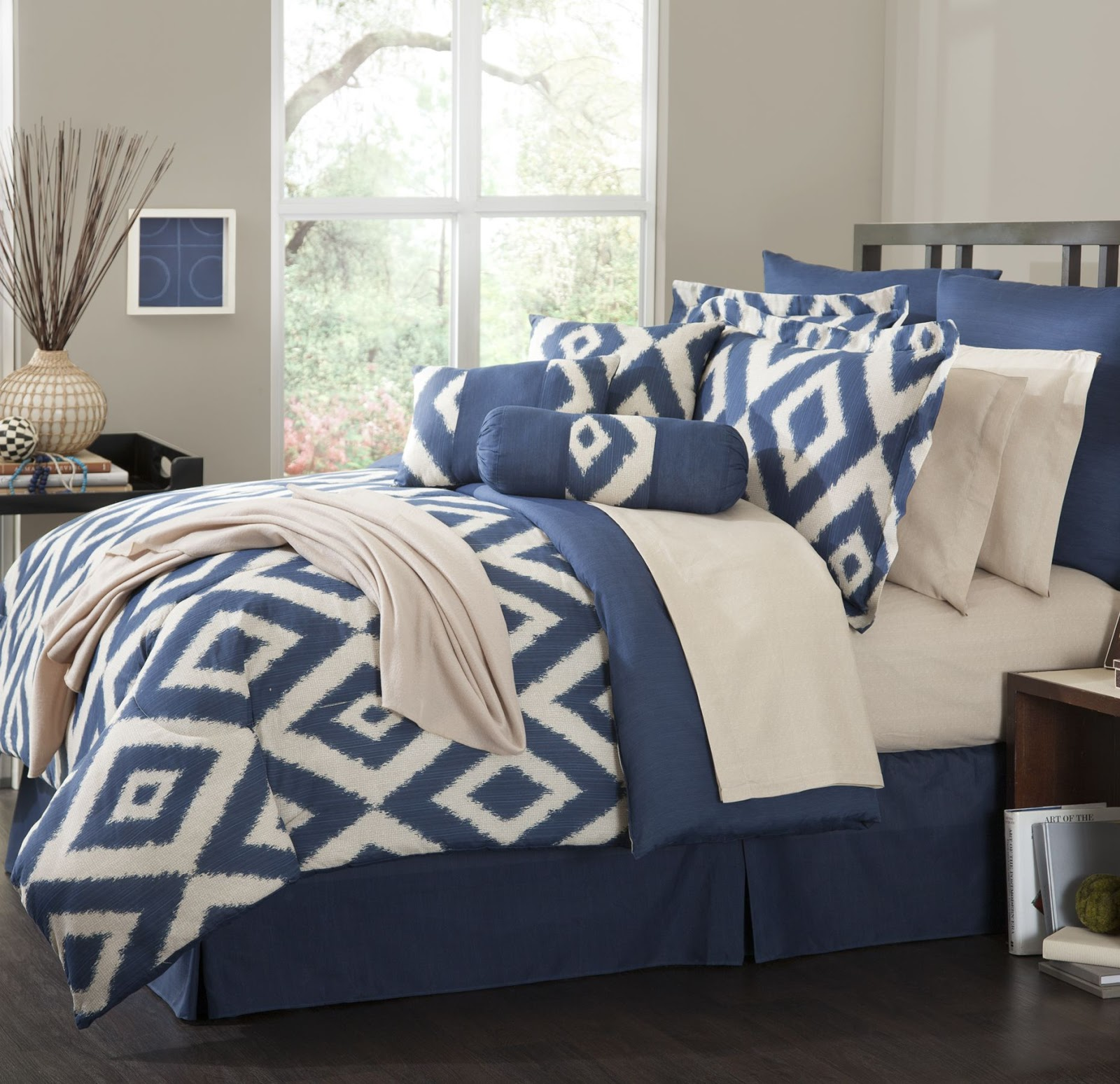 Happy habitat teal and yellow - Navy blue and yellow bedding ...