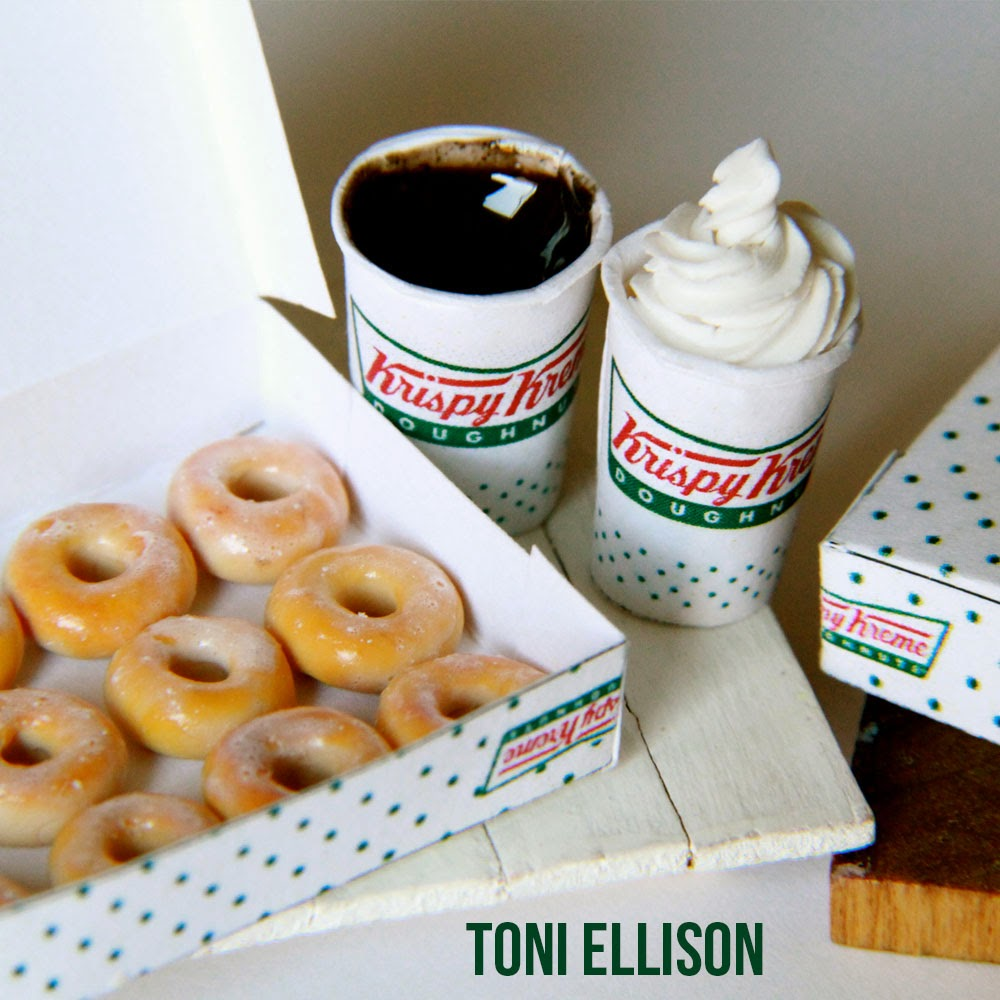 Toni Ellison: Krispy Kreme Doughnuts & Coffee : Miniature Polymer Clay ...