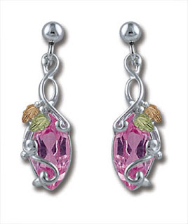 rose zircon earrings photo