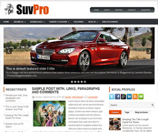 SuvPro Blogger Template