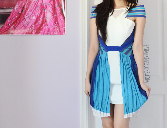 If you're into the sporty, athletic aesthetic, try out Three Floor's bright, colorblocked styles, like their Ray of Light dress, which was the inspiration for this SheIn dupe.