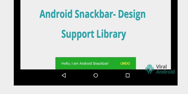 Google also released novel pattern guidelines called fabric pattern Android Snackbar Using Design Support Library