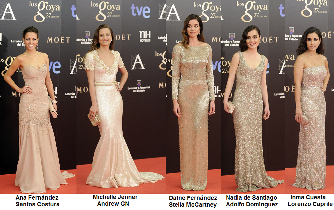 The fantastic fashion world premios goya 2013 a complete for Adolfo dominguez goya