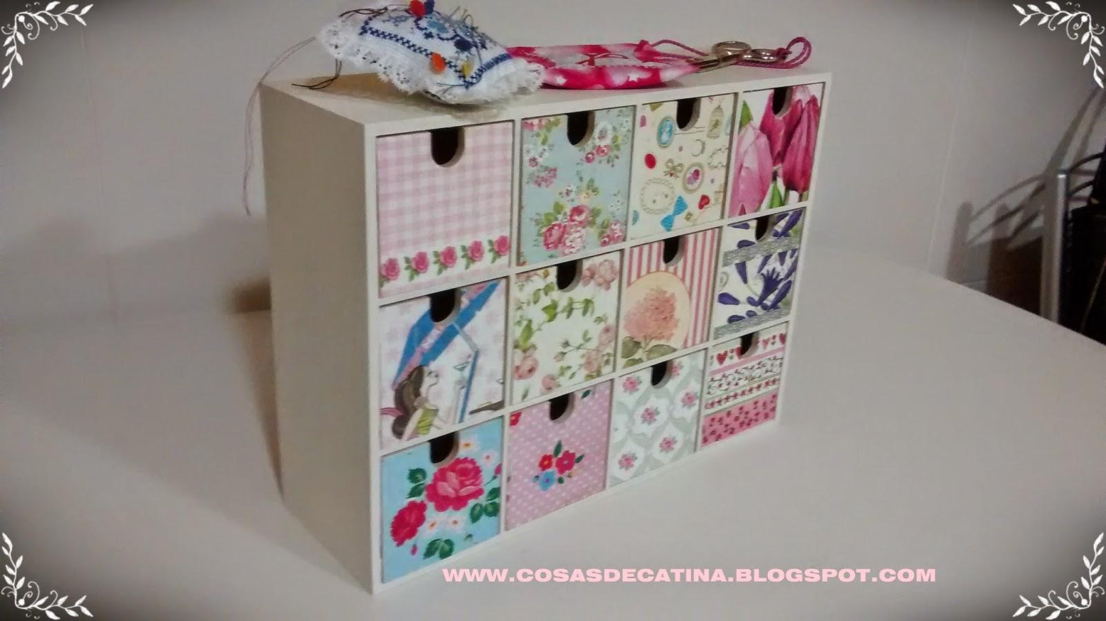 Cosas de catina cajonera ikea decorada for Como tratar la madera