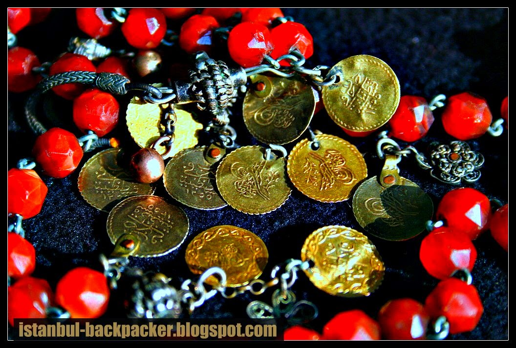 Ottoman Gold Coins and Prayer Beads
