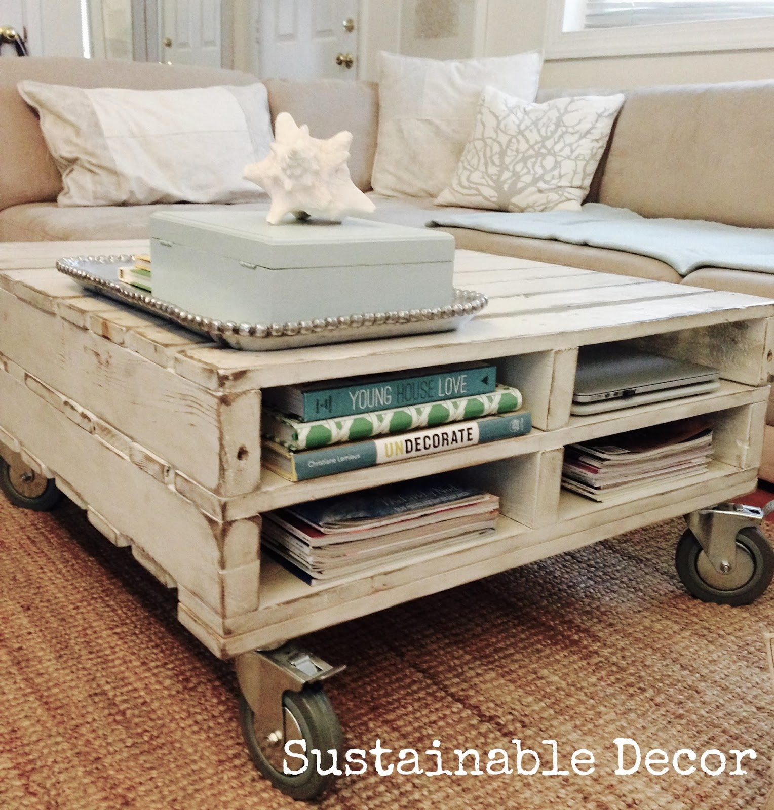 Sustainable decor upcycled pallet coffee table for Pallet furniture projects