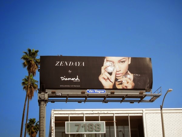 Zendaya Diamond PacSun billboard