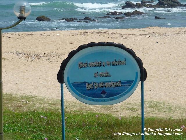 corail beach de tangalle au Sri Lanka