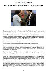EL BOLIVARIANISMO: UNA CORRIENTE SOCIAL-DEMÓCRATA BURGUESA
