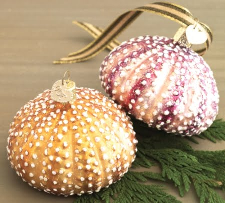 glass urchin ornaments