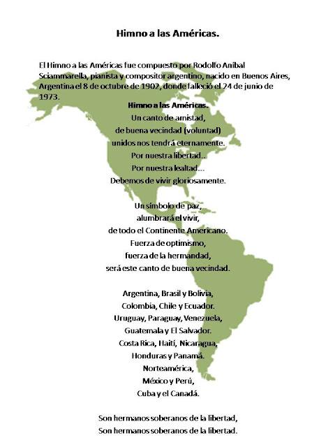 Planeta Escolar: Dia del Panamericanismo e Himno a las Américas.