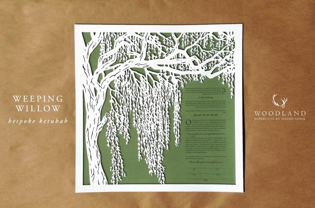 Woodland Papercutsbespoke Tree ketubot (part 2)
