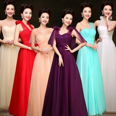 One-Dress-Multiple-Designs Tutu Lace Bridesmaid Maxi Dress