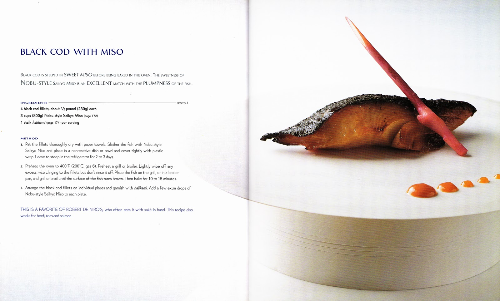 More Cookbooks Than Sense: Signatures: Black Cod with Miso (Nobu)