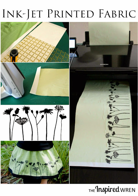 Print custom fabric with your ink-jet printer. | The Inspired Wren for Diana Rambles