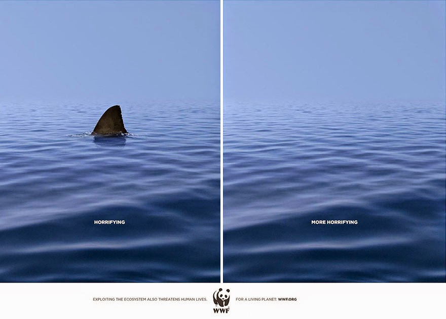 40 Of The Most Powerful Social Issue Ads That'll Make You Stop And Think - World Wide Fund For Nature: Frightening vs. More Frightening