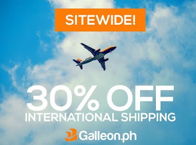 Galleon.ph 30% discount on international shipping fee