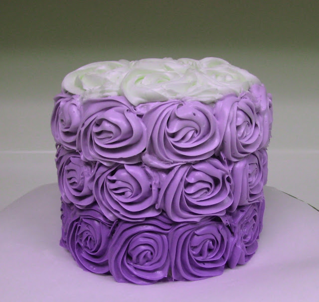 Purple Ombre Rose Cake 4