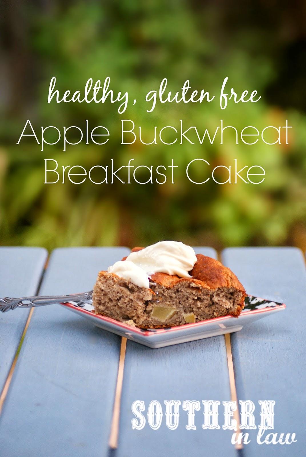Apple Buckwheat Breakfast Cake - healthy, low fat, gluten free, sugar free