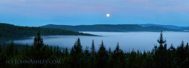 """Super moonset"" in Montana (c) John Ashley"