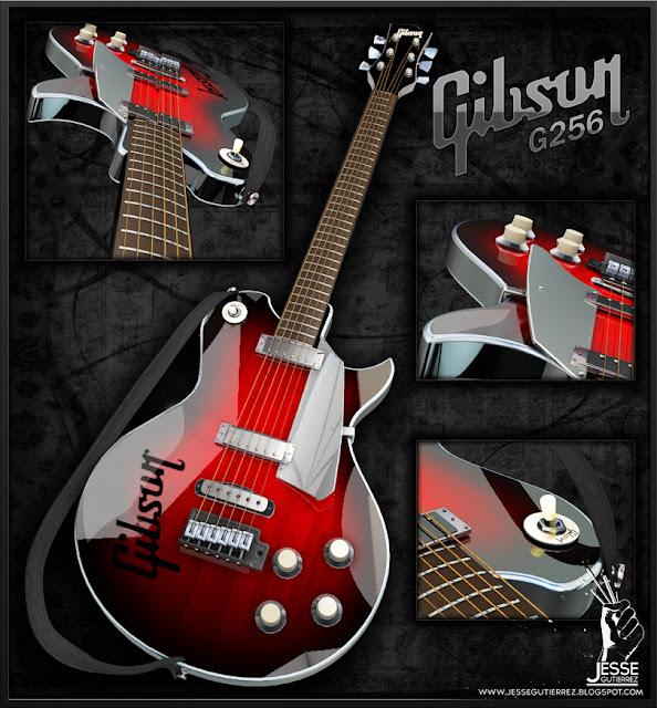 Jesse Gutierrez Art Gibson, Guitar, 3d, Peru,artista peruano 3d diseño 3d