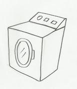 Desenho de máquina de lavar para colorir. Desenho de máquina de lavar para .
