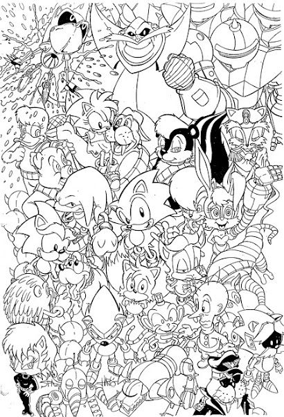 Printable Sonic Coloring Pages for Kids >> Disney Coloring Pages