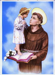 Sf.Anton de Padova si pruncul Isus ziua moastelor la Catedrala Sf.Iosif, mai/iunie 2004