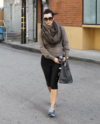 Kim Kardashian Workout Candids