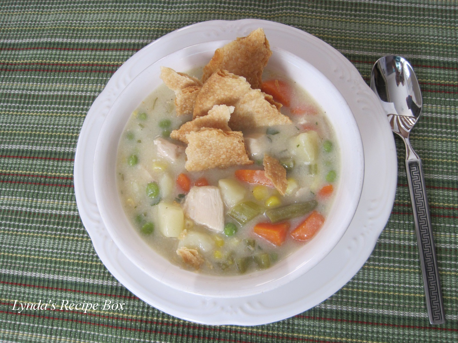 Lyndas recipe box chicken pot pie soup chicken pot pie soup adapted from aaron mccargo food network 6 8 servings approximately i cut out some of the fat from the original recipe forumfinder Gallery