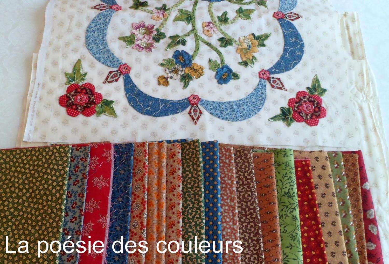La po sie des couleurs salon pour l 39 amour du fil et choix de tissus Utilisation de tissus dans le salon