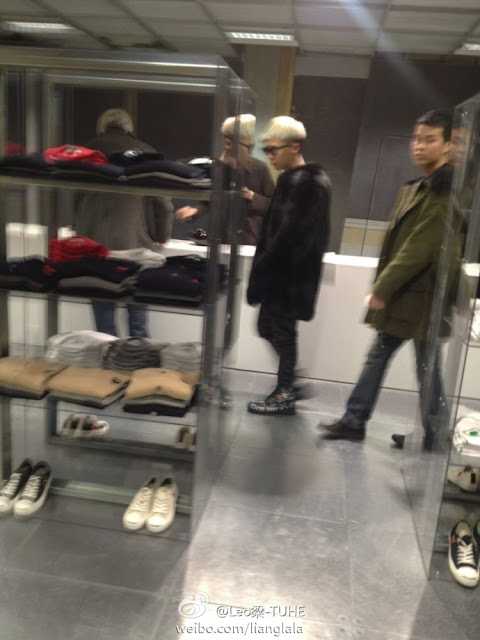G-Dragon shopping in London 130119
