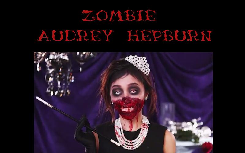 zombie audrey hepburn halloween makeup idee instagram