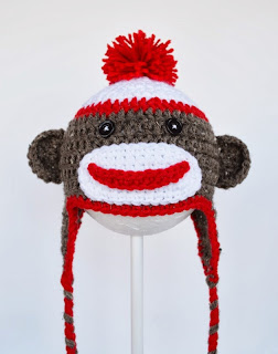 Sock Monkey Hat at Over The Apple Tree