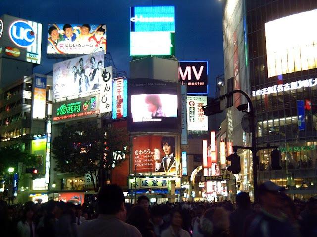 Tokio, cruce de shibuya en Japon