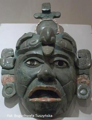 Jadeitowa maska z Tikal