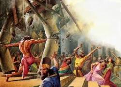 Samson menghancurkan istana