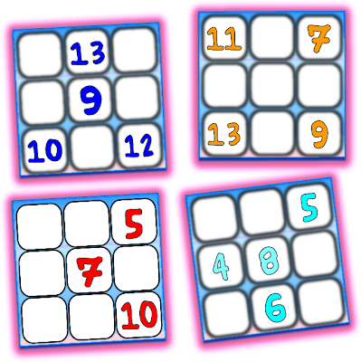 Cuadrados mágicos, cuadrados mágicos de tamaño 3x3, cuadrados magicos de orden 3, cuadrados mágicos con solución