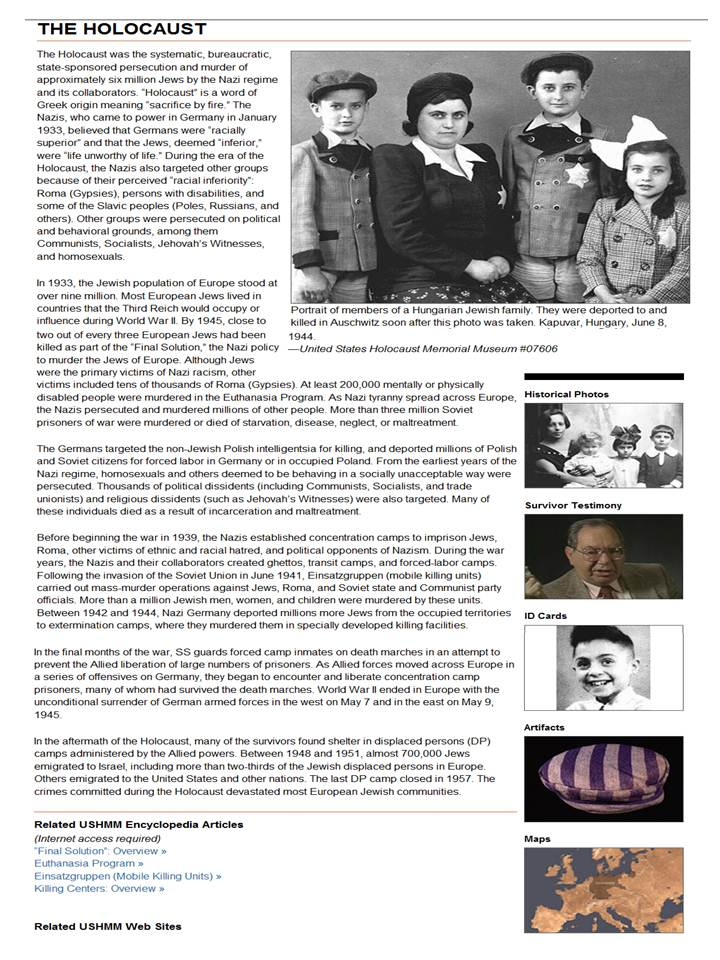 holocaust euthanasia program For teachers recommended resources and topics if you have limited time to teach about the holocaust.