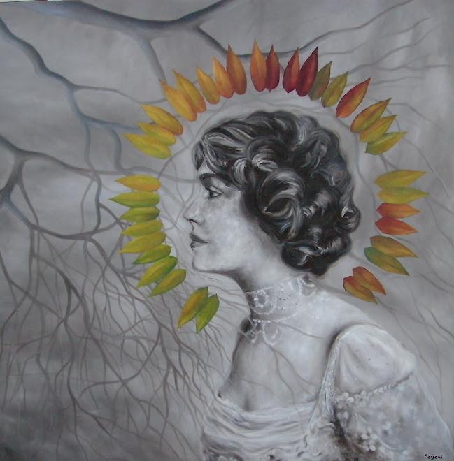 """Llegando"". Óleo s/tela. 100 x 100 cm. 2017"