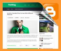 Go Green Responsive Blogger template : FlatMag